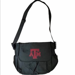 Texas A&M Messenger Diaper Bag with Pad NEW